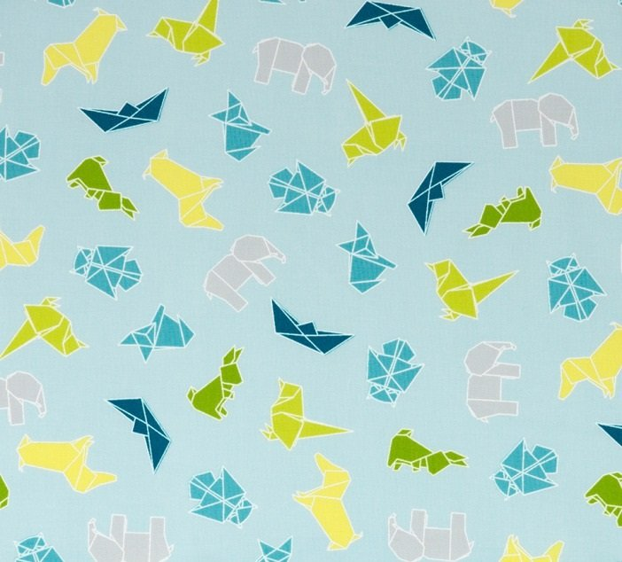 Mixed Bag - Origami on Blue by Studio M for Moda