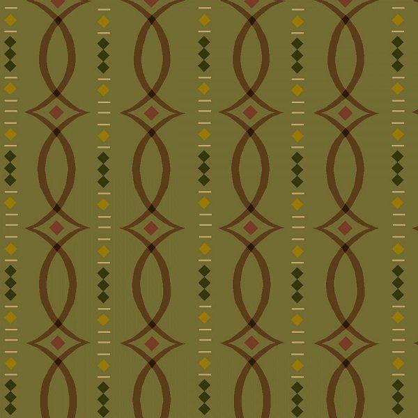 Helping Hands - Fancy Stripe in Green by Kim Diehl for Henry Glass