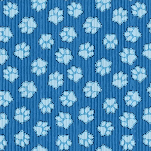 Dogs & Suds - Paw Prints in Blue by Shelly Comiskey for Henry Glass