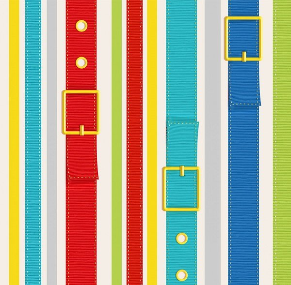 Dogs & Suds - Dog Collar Stripe in Multi by Shelly Comiskey for Henry Glass