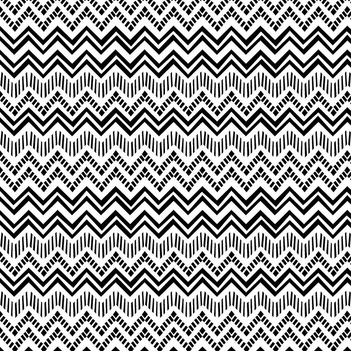 Sunny Days - Black and White Zig Zag Stripe by Pink Chandelier for Wilmington Prints