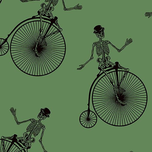 Chillingsworth's Bicycle Race - Hi-Wheel on Green by Echo Park Paper Co. for Andover