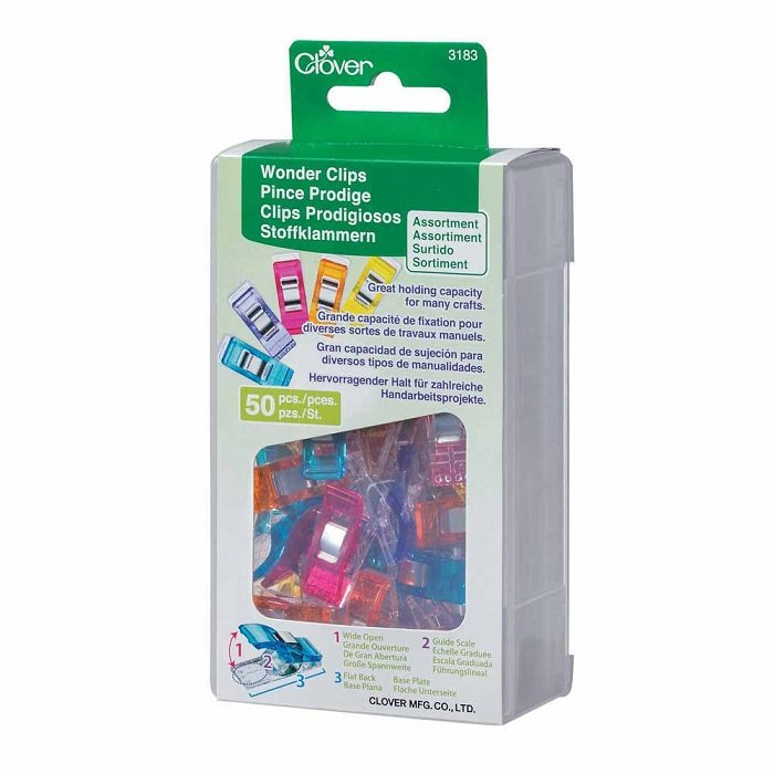 Wonder Clips - Standard Size 50 Piece Assorted Colours by Clover