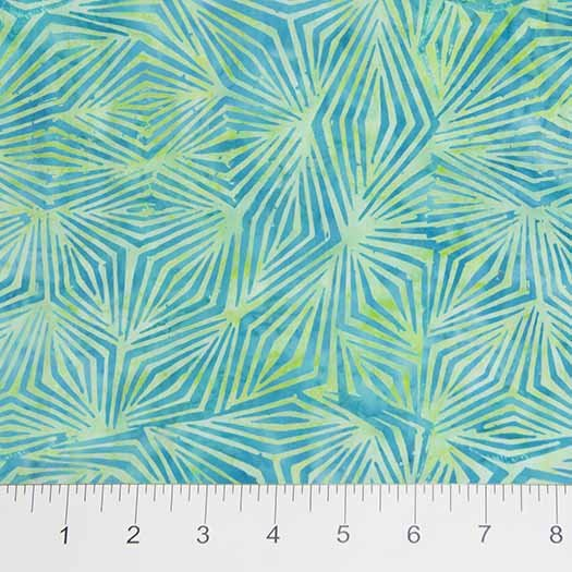 Visual Sound Batiks - Diamond Clusters in Aqua on Blue by Banyan Batiks for Northcott