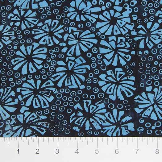 Visual Sound Batiks - Flowers in Blue by Banyan Batiks for Northcott