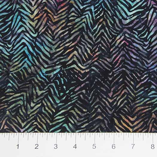 Visual Sound Batiks - Fractured Chevron in Dark Multi by Banyan Batiks for Northcott