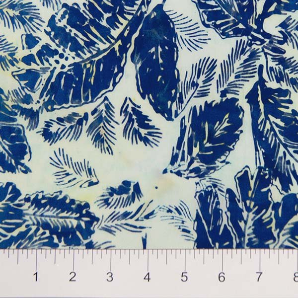 Feathers Batiks - Feathers in French Blue by Banyan Batiks for Northcott