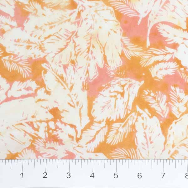 Feathers Batiks - Feathers in Peach by Banyan Batiks for Northcott