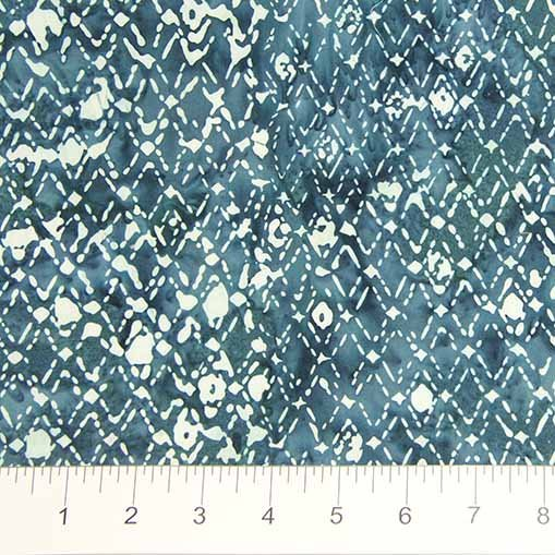 Primitive Lines Batiks - Diamonds in Teal by Banyan Batiks for Northcott