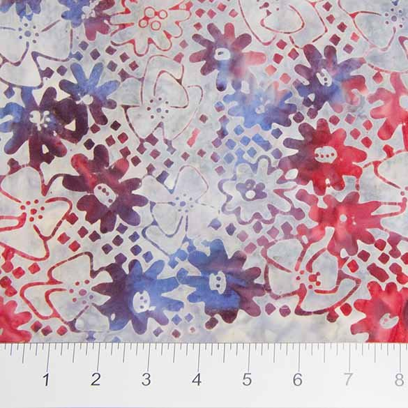 Sophie Batiks - Daisies in Red by Banyan Batiks for Northcott