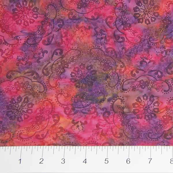 Darling Lace Batiks - Lace Doily in Pink Multi by Banyan Batiks for Northcott