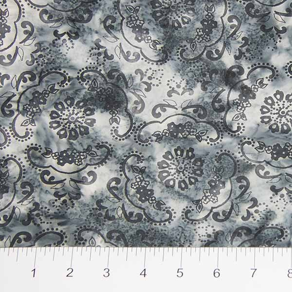 Darling Lace Batiks - Lace Doily in Light Gray by Banyan Batiks for Northcott