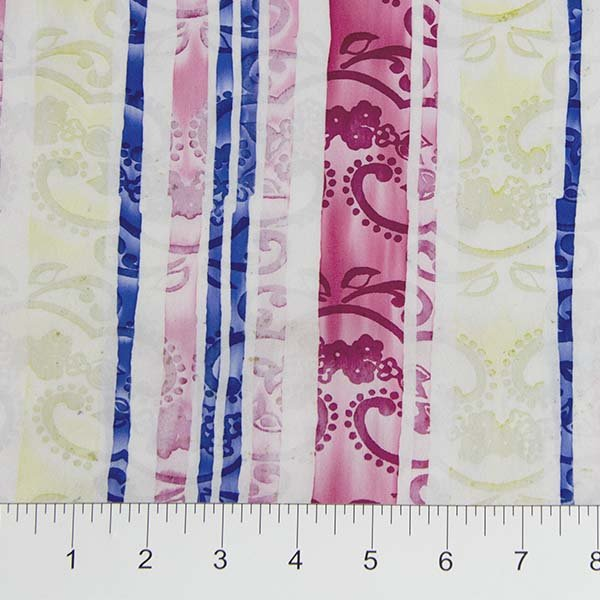 Darling Lace Batiks - Lace Stripe in Light Pink Multi by Banyan Batiks for Northcott