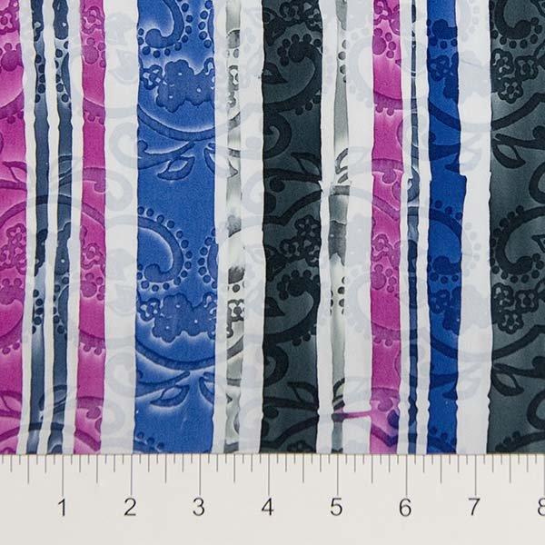 Darling Lace Batiks - Lace Stripe in Dark Multi by Banyan Batiks for Northcott