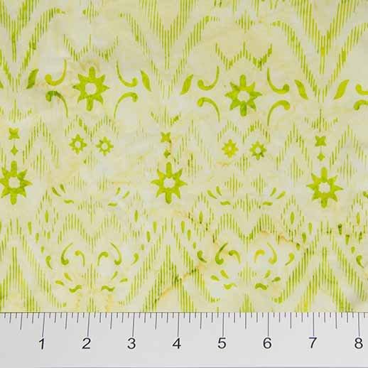 Ikat Sketch Batiks - Geometric Pattern in Light Green by Banyan Batiks for Northcott