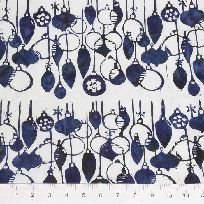 Winter Light Batiks - Ornaments in Ice Kissed Blue by Banyan Batiks for Northcott