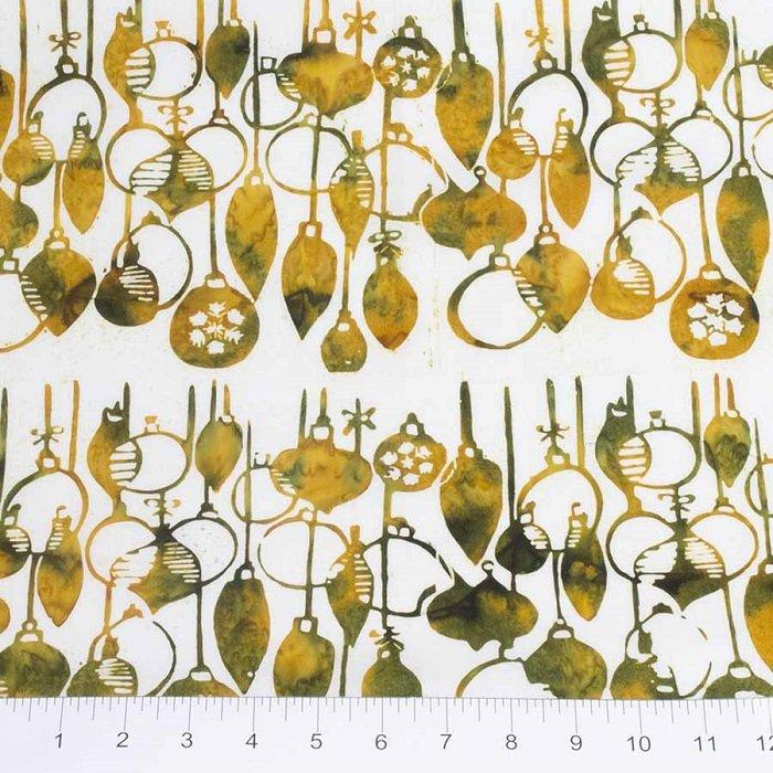 Winter Light Batiks - Ornaments in Fireside Gold by Banyan Batiks for Northcott