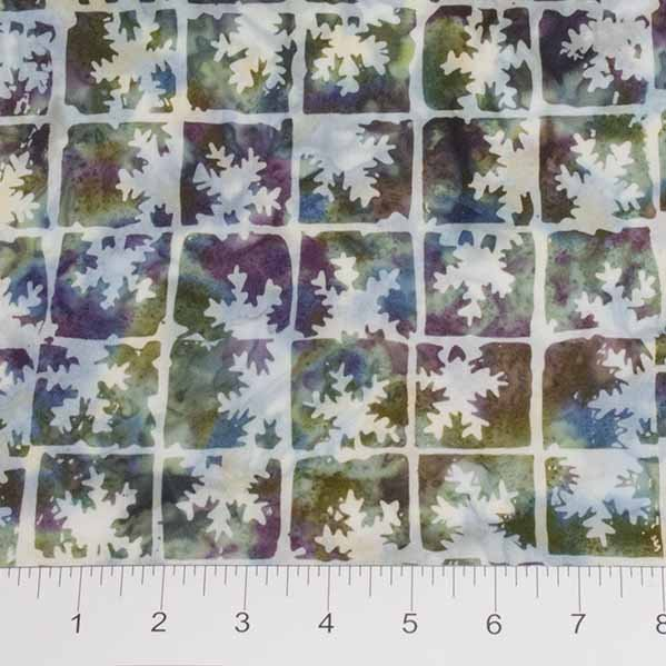 Winter Light Batiks - Frosted Window in Ice Kissed Multi by Banyan Batiks for Northcott