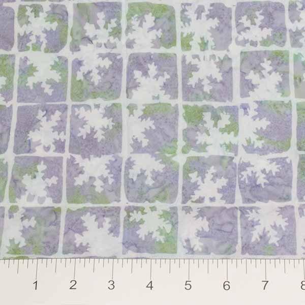 Winter Light Batiks - Frosted Window in Frostbite Blue by Banyan Batiks for Northcott