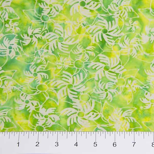Recess Batiks - Pinwheels on Yellow / Green by Banyan Batiks for Northcott