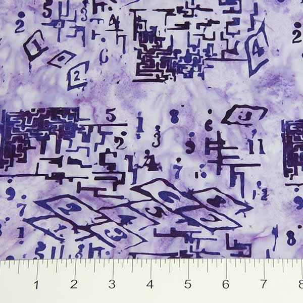 Recess Batiks - Hopscotch in Purple by Banyan Batiks for Northcott