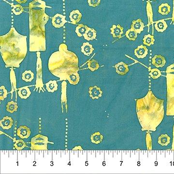 Patio Batiks - Lanterns in Lemon Lime by Pat Fryer for Banyan Batiks