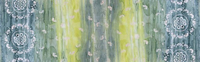 Patio Batiks - Large Medallion in Ocean Green by Pat Fryer  for Banyan Batiks
