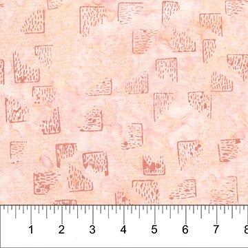 Patio Batiks - Bricks on Pale Peach by Pat Fryer for Banyan Batiks