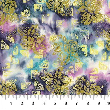 Patio Batiks - Rose and Iron in Berry Burst by Pat Fryer  for Banyan Batiks