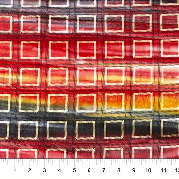 Kilts and Quilts Batiks - Second Plaid in Burning Ash by Patience Griffin for Banyan Batiks