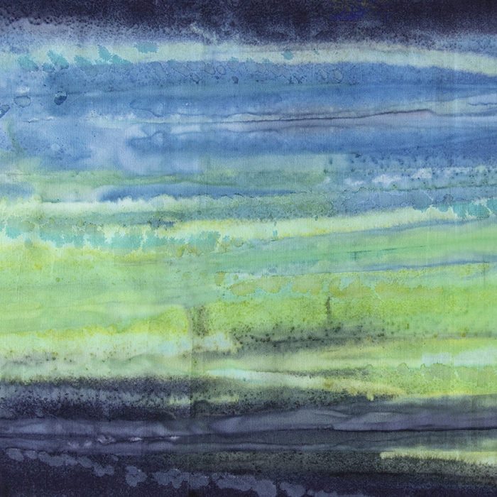 Color Me Banyan Batiks - Watercolor in Denim Green by Banyan Batiks Studio for Northcott