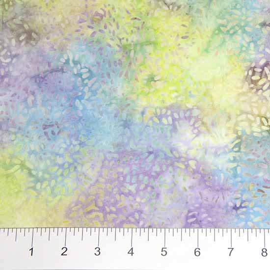 Ketan Multi Batiks - Texture in Pastel Purple, Blue and Yellow by Banyan Batiks for Northcott