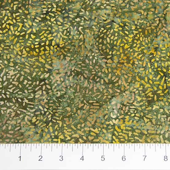 Ketan Batiks - Texture in Green Tea by Banyan Batiks for Northcott
