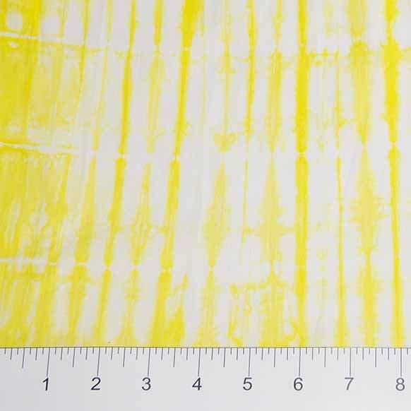 Shibori Batiks - Texture in Yellow / White by Banyan Batiks for Northcott