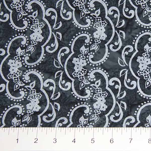 Darling Lace Batiks - Lace in Charcoal by Banyan Batiks for Northcott