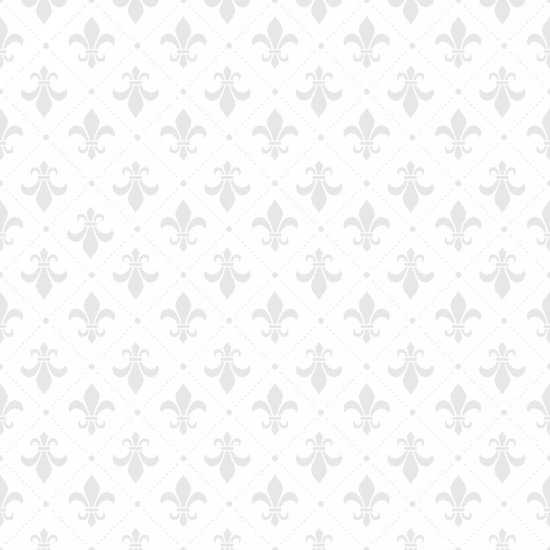 Vanilla Icing II - Fleur de Lys in White with Grey by Blank Quilting