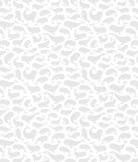 Vanilla Icing II - Whales in White with Grey by Blank Quilting