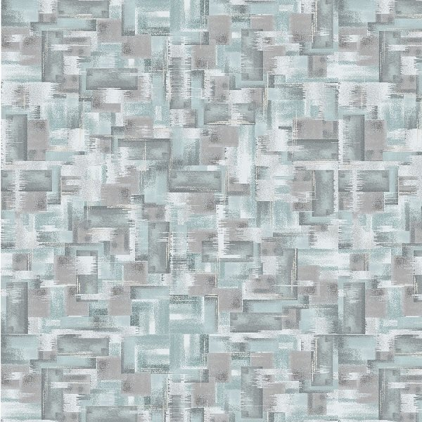 Pearl Luxe - Tile Texture in Light Teal Pearlescent by Pattern Wheel Studio for Henry Glass