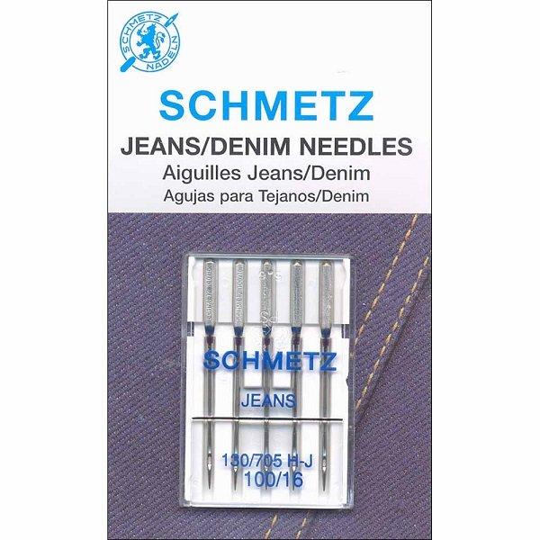 #1712 Denim Needles Carded - 100/16 - 5 count by Schmetz