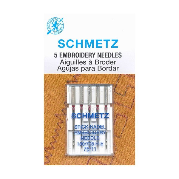 #1745 Embroidery Needles Carded - 75/11 - 5 count by Schmetz