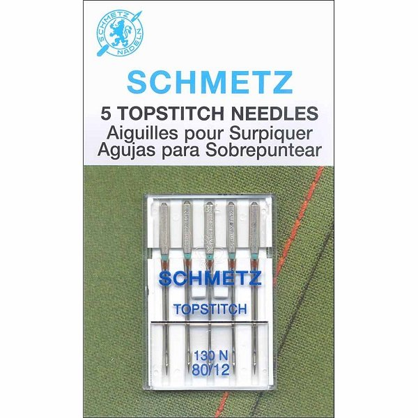 #1792 Topstitch Needles Carded - 80/12 - 5 count by Schmetz