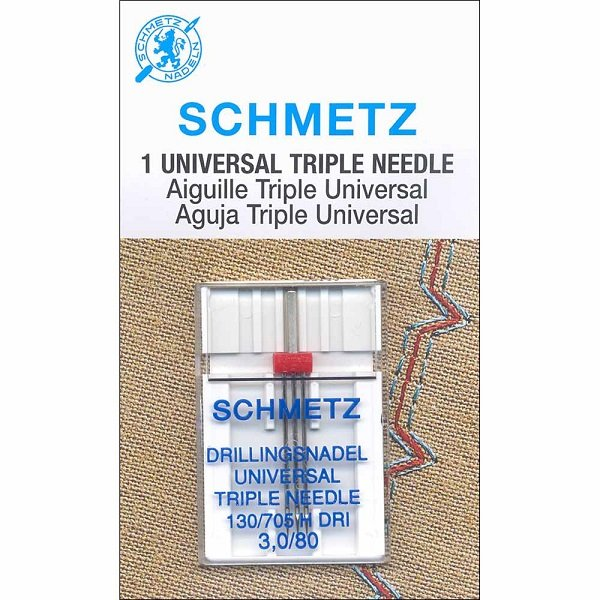 #1797 Triple Needle Carded - 80/12 - 3.0mm - 1 count by Schmetz