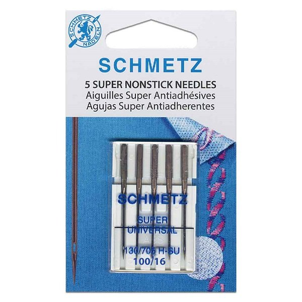 #4504 Super NonStick Needles Carded - 100/16 - 5 count by Schmetz