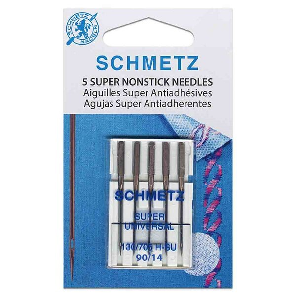 #4503 Super NonStick Needles Carded - 90/14 - 5 count by Schmetz