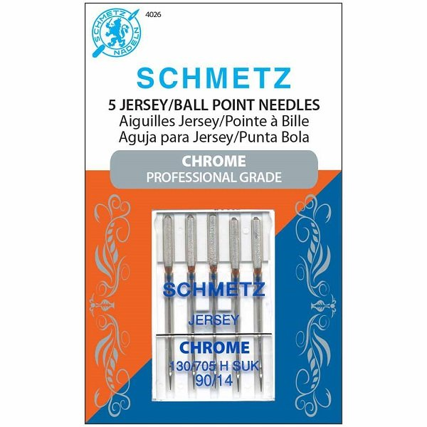 #4026 Chrome Jersey Needles Carded - 90/14 - 5 count by Schmetz