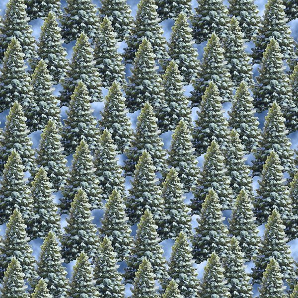 Let It Snow - Pine Trees in Green by Linda Picken for Blank Quilting