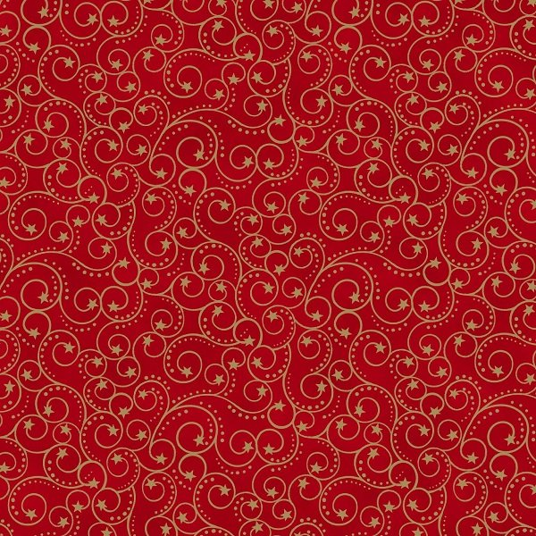 Elegant Christmas - Scroll on Red by Gina Linn for Blank Quilting