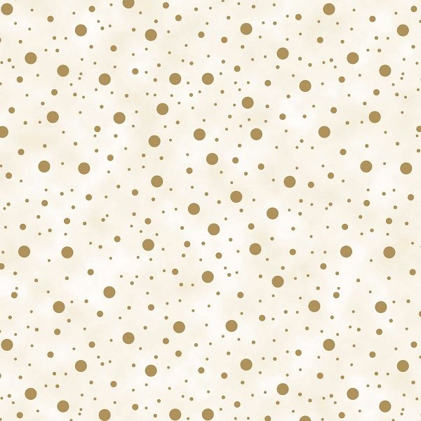 Elegant Christmas - Dots on Cream by Gina Linn for Blank Quilting