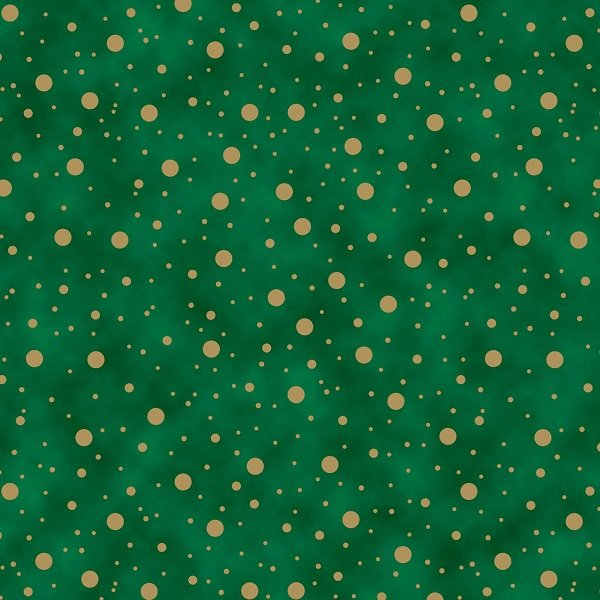 Elegant Christmas - Dots on Green by Gina Linn for Blank Quilting