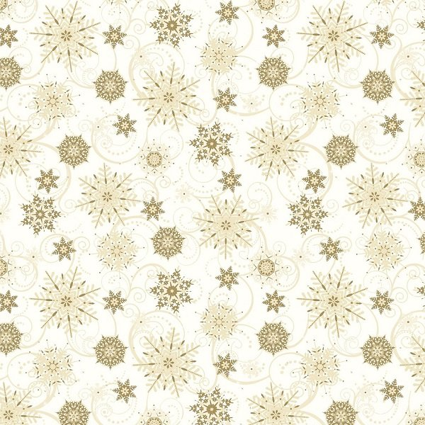 Elegant Christmas - Snowflakes on Cream by Gina Linn for Blank Quilting